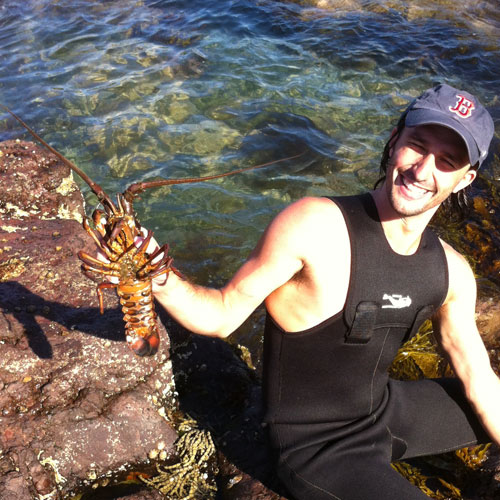 Andrew Ucles with a Lobster